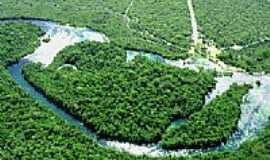 Campo Novo do Parecis - Vista aérea do Rio Sacre em Campo Novo do Parecis-MT-Foto:Edson Walter Cavalar…
