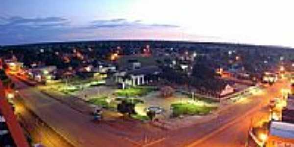 Vista noturna do centro de Curvelândia-Foto:CAVERNABEZERRA