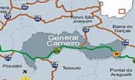 General Carneiro - Mapa de localização