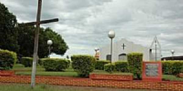 Igrerja Santo Antônio na Vila Monte Castelo D'Oeste município de Glória D'Oeste-Foto:Eduardo Gomes de Andrade