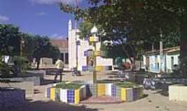 Brejo Luíza de Brito - Praça e Igreja de Luiza de Brito-BA-Foto:liberdade-bom.