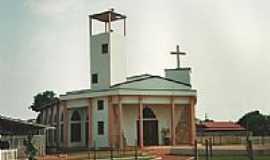 Ju�na - Igreja de Santo Agostinho em Ju�na-MT-Foto:Vicente A. Queiroz