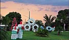 Nova Olímpia - Arte com peças usadas em usina de alcool e açucar em Nova Olímpia-MT-Foto:Edson Walter Cavalar…