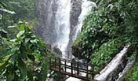 Nova Olímpia - Passarela na cachoeira do Hotel Fazenda Primavera em Nova Olímpia-MT-Foto:Edson Walter Cavalar…