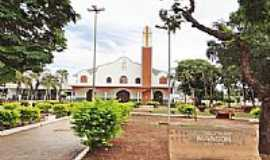 Nova Olímpia - Praça e Igreja de Nova Olímpia-MT-Foto:Edson Walter Cavalar…