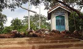 Nova Xavantina - Nova Xavantina-MT-Capela do Sagrado Coração de Jesus e Maria no Morro do Cruzeiro-Foto:Edinisio Gonçalves Pereira Vieira