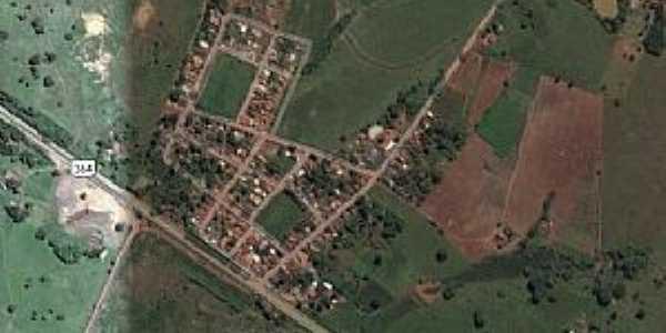Placa de Santo Antônio-MT-Vista aérea-Foto:PMJUS