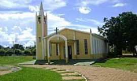 Ribeirãozinho - Igreja Matriz Nossa Senhora da Abadia na cidade de Ribeirãozinho-Foto:Eduardo Gomes de Andrade