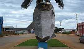 São José do Rio Claro - São José do Rio Claro-MT-Monumento ao peixe Matrinxã,comum na região-Foto:Manoel Francisco dos Santo
