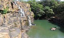Torixoréu - Cachoeira da Usina São Domingos em Torixoréu-MT-Foto:elizeualmeidafesa