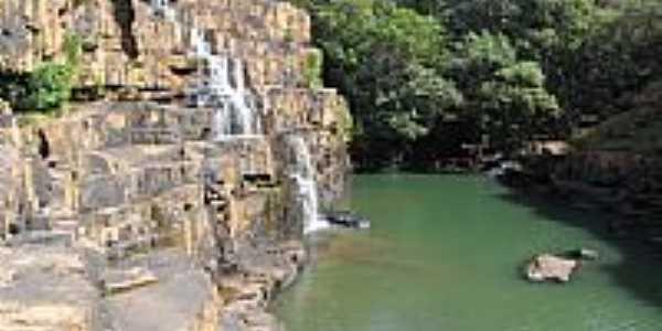 Cachoeira da Usina São Domingos em Torixoréu-MT-Foto:elizeualmeidafesa
