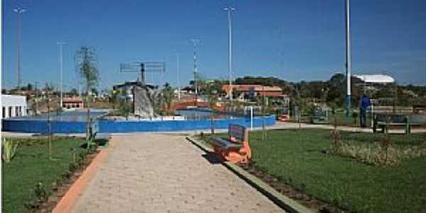 Água Azul do Norte-PA-Vista geral da Praça Vitória Santos-Foto:Ed Márcio