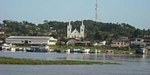 Vista do ancouradouro e parte da cidade de Alenquer-Foto:Spfc_Am