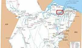 Barcarena - Mapa de Localização - Barcarena-PA