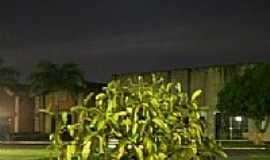 Belém - Visão noturna da praça em Belém-PA-Foto:R & F Faraon