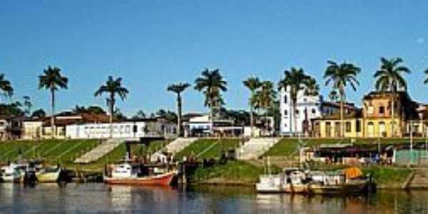 Bragança-PA-Rio Caeté e a cidade-Foto:www.solardocaete.com.br