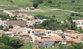 Caetanos - A cidade de Caetanos vista do alto da serra-BA-Foto:adilson de lima