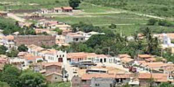 A cidade de Caetanos vista do alto da serra-BA-Foto:adilson de lima
