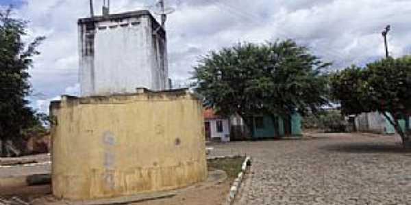 Caiçara-BA-Centro do Povoado e a Praça Principal-Foto:Iba Mendes