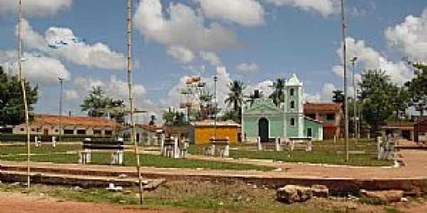 Praça São Benedito - ao fundo a Igreja de São Benedito