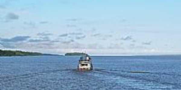Gurupá-PA-Barco de passageiros-Foto:Heraldo Amoras Amora…