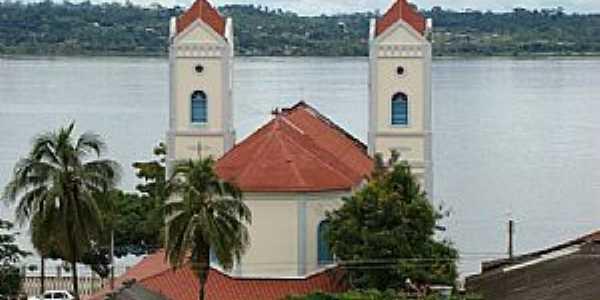 Itaituba-PA-Igreja de Sant´Ana às margens do Rio Tapajós-Foto:José Parente de sousa