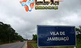Jambuaçu - Placa indicativa na Rodovia em Jambuaçu-PA-Foto:jambuaçu.comunidades.