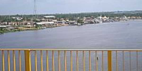 Cidade de Moju vista da ponte-Foto:Rui Oliveira Santos