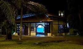 Monte Dourado - Monte Dourado-PA-Vista noturna da Igreja Católica-Foto:Heraldo Amoras