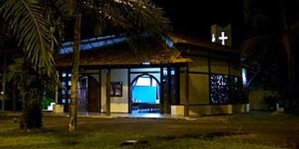 Monte Dourado-PA-Vista noturna da Igreja Católica-Foto:Heraldo Amoras