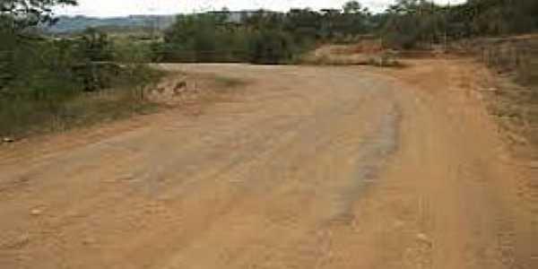 Caldeirão Grande-BA-Estrada de terra-Foto:Jorge Macedo