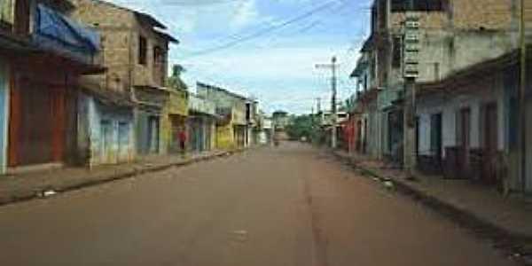 Mojuí dos Campos-PA-Rua central-Foto:Paulo Roberto Área