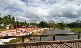 Nova Timboteua - Ponte de madeira sobre o rio Peixe Boi - Por Pedro Paulo