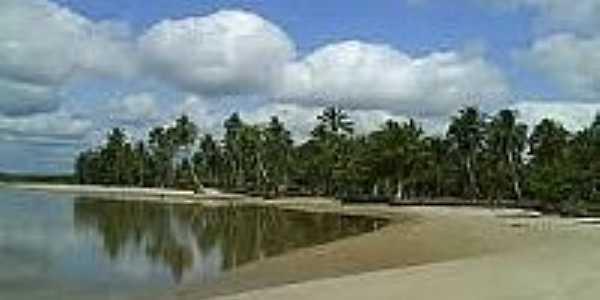Praia no Distrito de Camassandi-BA-Foto:turismopelobrasil.