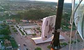 Quatro Bocas - Quatro Bocas-PA-A cidade vista do alto da torre-Foto:gbsnet