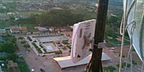 Quatro Bocas-PA-A cidade vista do alto da torre-Foto:gbsnet