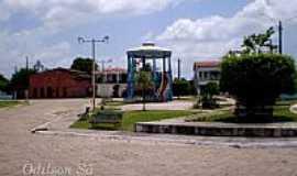 São Caetano de Odivelas - Praça da Amizade em São Caetano de Odivelas-PA-Foto:Odilson Sá