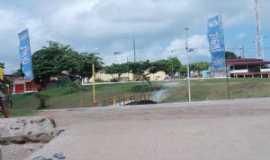 São Caetano de Odivelas - a ponte  em frete a praça da prefeitura - Por socorro fernandes