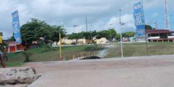 a ponte  em frete a praça da prefeitura - Por socorro fernandes
