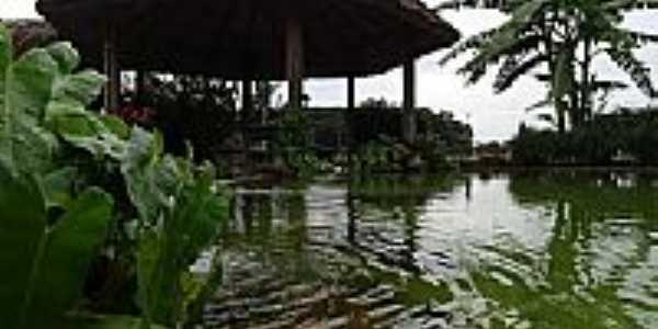 Quiosque e lago em São Francisco do Pará-PA-Foto:PEDRO PAULO