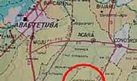 Tomé-Açú - Mapa de localização