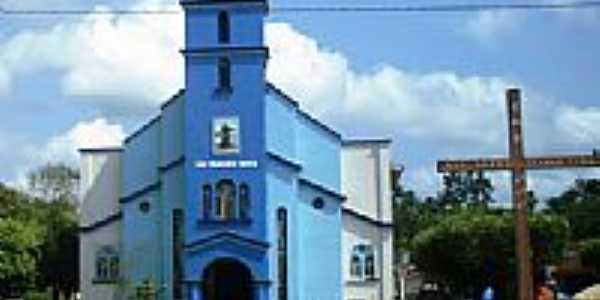 Igreja de S�o Francisco Xavier em Tom�-A�u-PA-Foto:Reginaldo Abreu