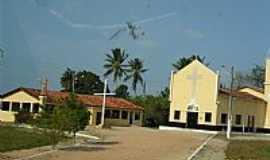 Tracuateua - Tracuateua-PA-Praça e Igreja em Vila Tauarí-Foto:Carlos Fernando Macedo