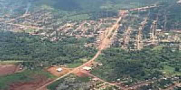 Vista aérea da cidade de Trairão-Foto:Jonas Alves