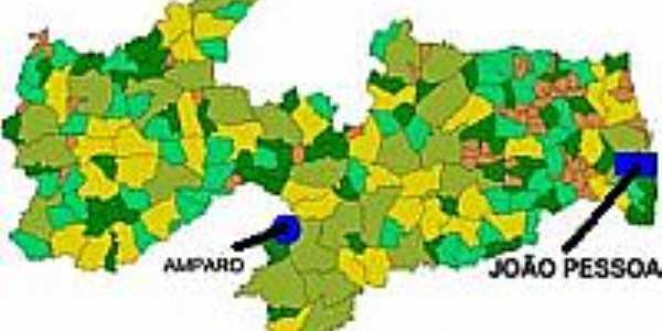 Mapa de Localização - Amparo-PB