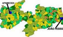 Aparecida - Mapa de Localização - Aparecida-PB