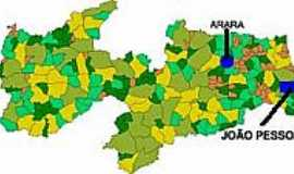 Arara - Mapa de Localização Arara-PB