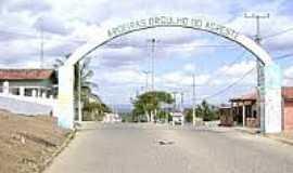 Aroeiras - Pórtico de entrada-Foto:passosuemg.