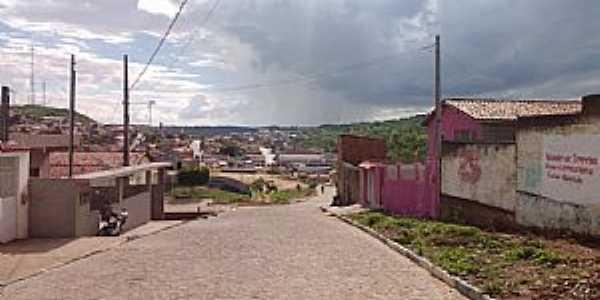 Aroeiras-PB-Rua e vista parcial da cidade-Foto:Facebook