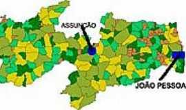 Assunção - Mapa de Localização - Assunção-PB